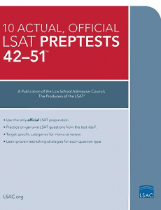 10 actual official LSAT preptests 42-51